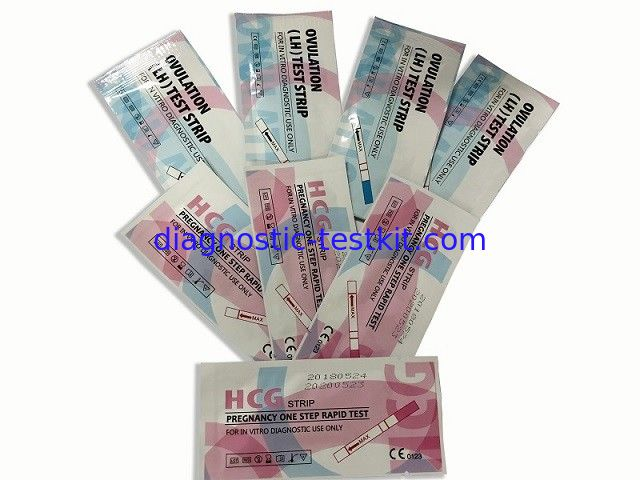 High Sensitivily LH Ovulation Test Kit Ovulation Prediction Kits Pink Blue Color
